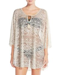 Lucky Brand - Crochet Tunic Cover-up - Lyst