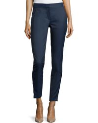 Stella McCartney Mid-Rise Fitted Wool Trousers - Lyst