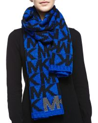 Michael by Michael Kors Logo Scarf with Pin-dot Stud Detail - Lyst