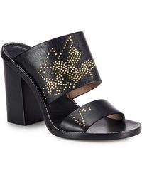 Chloé Suzanna Studded Leather Slides black - Lyst