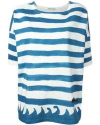 Tsumori Chisato Stripes And Wave Print T-Shirt - Lyst
