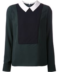 Timo Weiland Green Tuxedo Blouse - Lyst