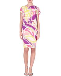 Emilio Pucci Printed Jersey Dress Geraniomuschio - Lyst
