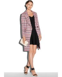 Milly Couture Basketweave Cleo Coat - Lyst