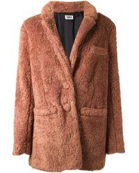 Sonia By Sonia Rykiel Faux Fur Coat - Lyst