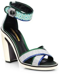 Nicholas Kirkwood Mixed Media Ankle-strap Sandals - Lyst