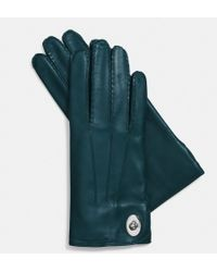 Coach Leather Turnlock Glove - Lyst