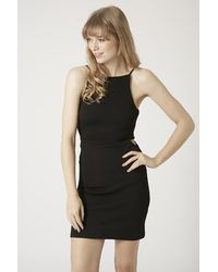 Topshop Square Neck Cut-Out Bodycon Dress - Lyst
