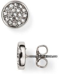Rebecca Minkoff Pavé Disc Stud Earrings - Lyst