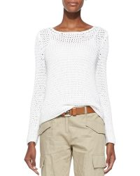 Michael Kors Long-sleeve Boat-neck Sweater - Lyst