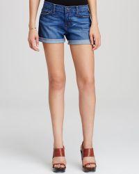 Flying Monkey - Medium Wash Cuffed Shorts - Lyst