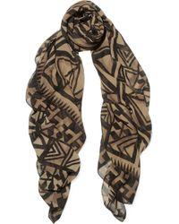 Donna Karan - Printed Silk-chiffon Scarf - Lyst