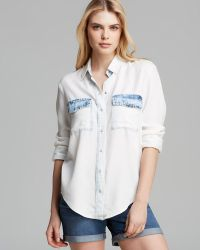 Two By Vince Camuto - Bleached Chambray Shirt - Lyst