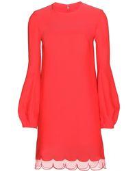 Giambattista Valli Organza-Trimmed Mini Dress - Lyst