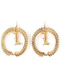 Malibu 1992 - Leaf Detail Earrings - Lyst