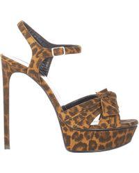 Saint Laurent - Women's Bianca Platform Sandals - Lyst