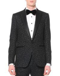 Lanvin Animal-Print Jacquard Tuxedo Jacket - Lyst
