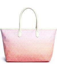 Mischa | 'shopper Tote' In Gradient Seigaiha Wave Hexagon Print | Lyst