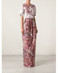 Prabal Gurung Jacquard Abstract Gown - Lyst