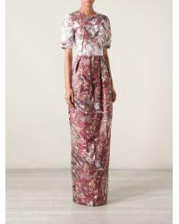 Prabal Gurung Jacquard Abstract Gown - Lyst