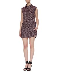 Thakoon Addition Sleeveless Print Button Down Jumper - Lyst