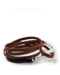 Miansai Two-tone Leather Anchor Bracelet - Lyst