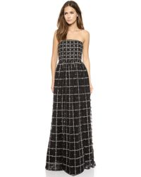 Alice + Olivia  Milly Embellished Strapless Ball Gown  - Lyst