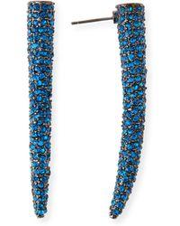 Sequin - Crystal Horn Stud Earrings - Lyst