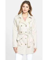 Kensie Women'S Double Breasted Trench Coat - Lyst
