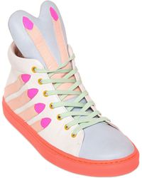 Minna Parikka Stick Em Up Nappa Leather Sneakers - Lyst