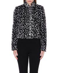 Alice + Olivia Mailynn Cropped Faux Fur Jacket - Lyst