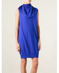 Alexander Wang Draped Sweater Dress - Lyst