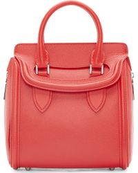 Alexander McQueen Red Leather Small Heroine Bag - Lyst