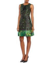 Kenneth Cole Green Sherry Printed Dress - Lyst