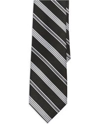 Ben Sherman Black Striped Tie - Lyst