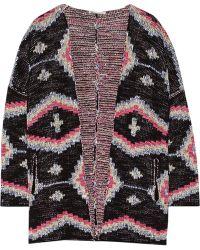 Maje Maori Knitted Cotton-Blend Cardigan - Lyst