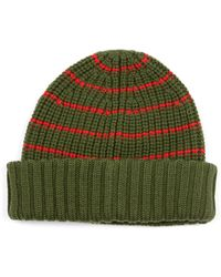 Marc By Marc Jacobs - Striped Merino-Wool Beanie - Lyst