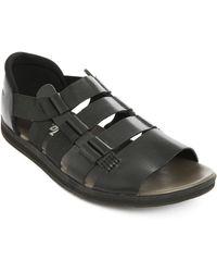 Camper Servolux Black Leather Sandals - Lyst