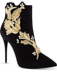 Giuseppe Zanotti Rosella Suede Ankle Boots Black - Lyst