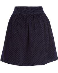 Cecilie Copenhagen - Navy Printed Short Skirt - Lyst