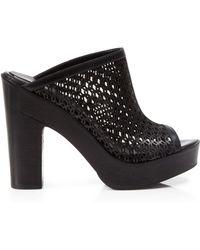 Pour La Victoire Open Toe Platform Mules - Sanya High Heel - Lyst