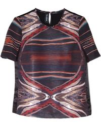 Yigal Azrouël | Gathered Abstract Print Top | Lyst