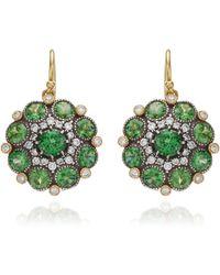Arman Sarkisyan - Tsavorite and White Diamond Cupcake Earrings - Lyst