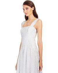 Diane von Furstenberg Dvf Lillie Pleated Chiffon Gown silver - Lyst