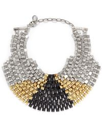 Ela Stone - Freja Pyramid Chain Plastron Necklace - Lyst