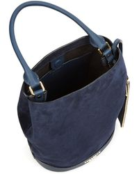 Burberry Prorsum - Suede And Leather Bucket Bag - Lyst