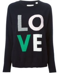 Chinti & Parker Intarsia Love Sweater - Lyst