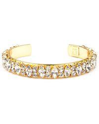 Dannijo Gold Crystallized Cuff - Lyst
