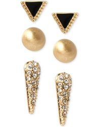 Kenneth Cole Triangle And Spike Stud Earring Set - Lyst