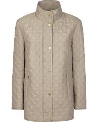 Windsmoor - Quilted Dogtooth Raincoat - Lyst